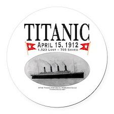 Titanic Ghost Ship (white) Round Car Magnet