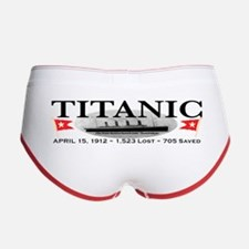 Titanic Ghost Ship (white) Women's Boy Brief