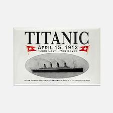Titanic Ghost Ship (white) Rectangle Magnet