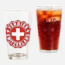 Verbier White Cross Drinking Glass