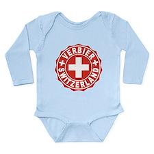 Verbier White Cross Long Sleeve Infant Bodysuit