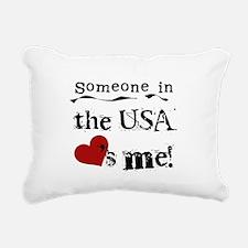 LOVESMEUSA.png Rectangular Canvas Pillow