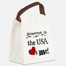LOVESMEUSA.png Canvas Lunch Bag