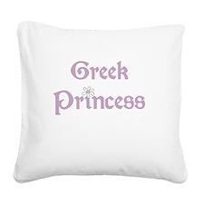 Greek Princess Square Canvas Pillow