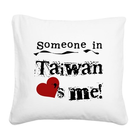 lovesmetaiwan.png Square Canvas Pillow