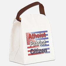 Atheist, Patriot, Citizen Canvas Lunch Bag