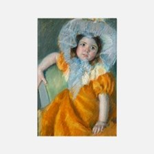 Cassatt - Orange Dress Rectangle Magnet