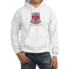 DUI - 317th Engineer Battalion with Text Hoodie