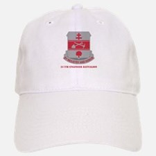 DUI - 317th Engineer Battalion with Text Baseball Baseball Cap