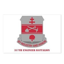 DUI - 317th Engineer Battalion with Text Postcards