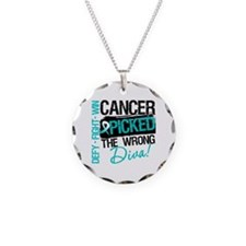 Cervical Cancer Wrong Diva Necklace Circle Charm