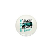 Cervical Cancer Wrong Diva Mini Button (10 pack)