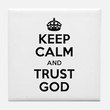 """Keep Calm"" Tile Coaster"