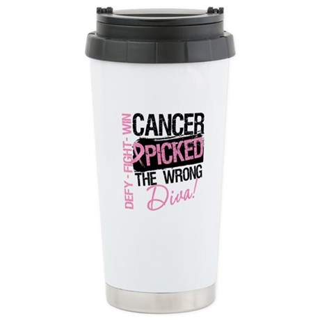 Breast Cancer Wrong Diva Stainless Steel Travel Mu