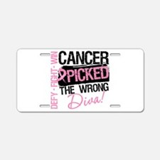Breast Cancer Wrong Diva Aluminum License Plate