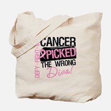 Breast Cancer Wrong Diva Tote Bag