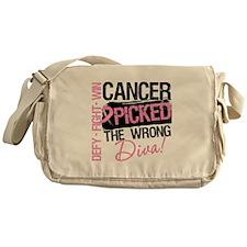 Breast Cancer Wrong Diva Messenger Bag