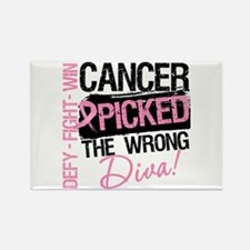 Breast Cancer Wrong Diva Rectangle Magnet