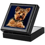 Yorkie dog Square Keepsake Boxes