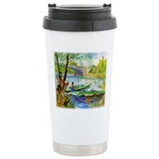 Fishing in Spring Travel Mug