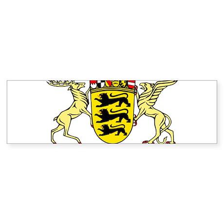 landeswappen badenw252rttemberg bumper sticker by heimatwappen