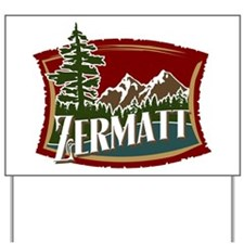 Zermatt Mountain Banner Yard Sign