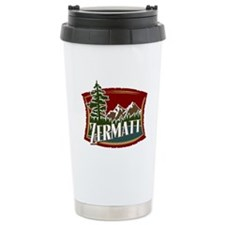 Zermatt Mountain Banner Travel Mug
