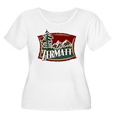 Zermatt Mountain Banner T-Shirt
