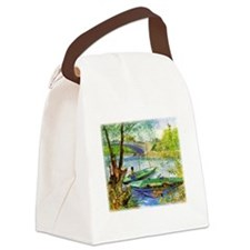 Fishing in Spring Canvas Lunch Bag
