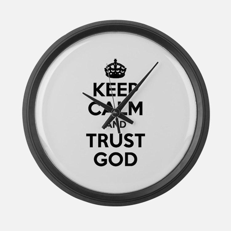 """Keep Calm"" Large Wall Clock"