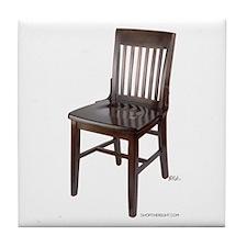 Empty Chair Tile Coaster