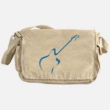 Blue guitar Messenger Bag