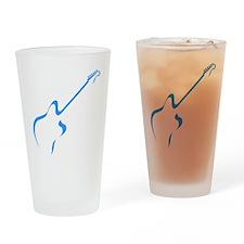 Blue guitar Drinking Glass