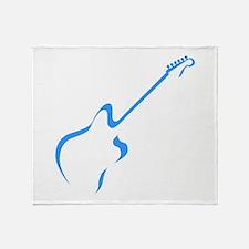 Blue guitar Throw Blanket