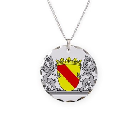 landeswappen baden mit greif necklace circle charm by