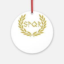 SPQR Shirt Ornament (Round)