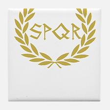 SPQR Shirt Tile Coaster