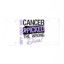 General Cancer Wrong Diva Aluminum License Plate