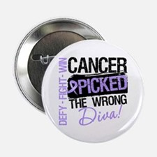 "General Cancer Wrong Diva 2.25"" Button"