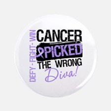 "General Cancer Wrong Diva 3.5"" Button (100 pack)"