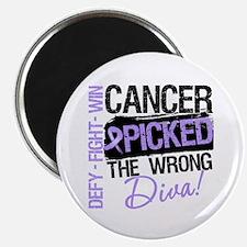 """General Cancer Wrong Diva 2.25"""" Magnet (10 pack)"""