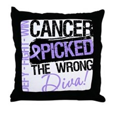 General Cancer Wrong Diva Throw Pillow