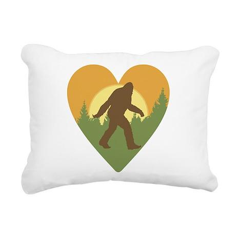Bigfoot Love Rectangular Canvas Pillow