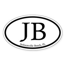 JB Jacksonville Beach Oval Decal