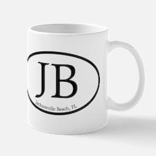JB Jacksonville Beach Oval Small Small Mug