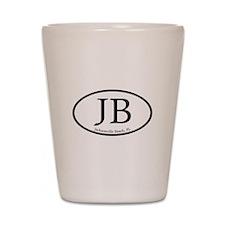 JB Jacksonville Beach Oval Shot Glass