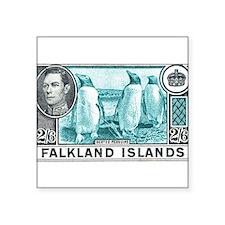 "Cute Falklands penguin Square Sticker 3"" x 3"""