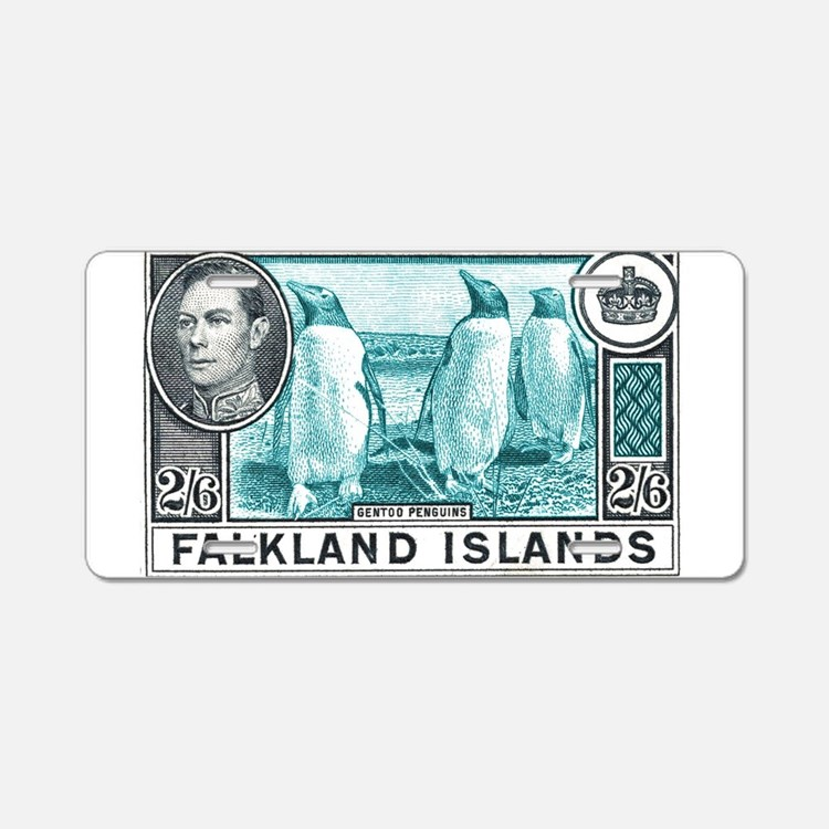 Cute Postage stamps Aluminum License Plate