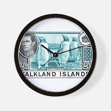 Cute Falklands penguin Wall Clock
