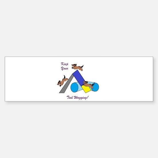 Keep Wagging Sticker (Bumper)